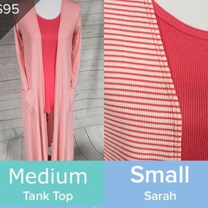 New LuLaRoe coral outfit S Sarah M tank NWT